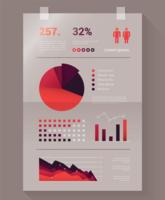 Poster di visualizzazione dei dati vettore