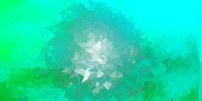 sfondo poligonale vettoriale verde chiaro.