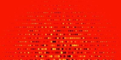 layout vettoriale arancione scuro con forme circolari.