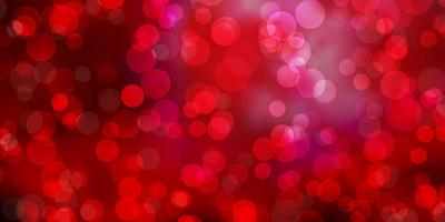 modello vettoriale rosa scuro, rosso con sfere.