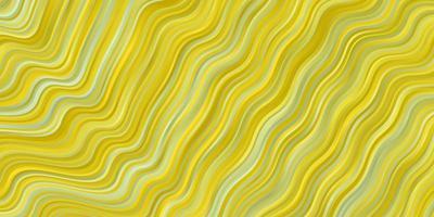 trama vettoriale verde chiaro, giallo con curve.