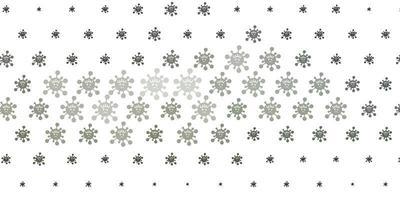 texture vettoriale grigio chiaro con simboli di malattia.