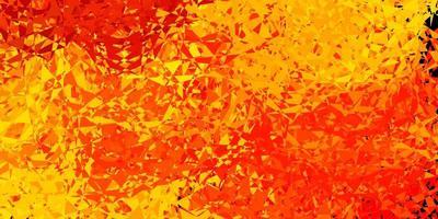 sfondo vettoriale arancione chiaro con triangoli.