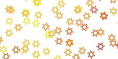 modello vettoriale giallo chiaro con segni di influenza.