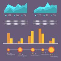 vettore di visualizzazione di dati flat