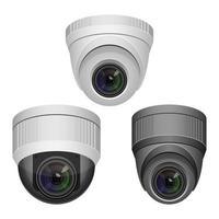 illustrazione di disegno vettoriale telecamera di sorveglianza isolato su sfondo bianco