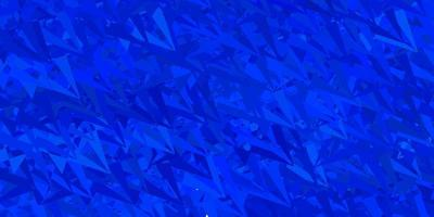 trama vettoriale blu scuro con triangoli casuali.