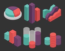 Set vettoriale di visualizzazione dati