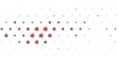 trama vettoriale rosso chiaro con simboli di malattia.
