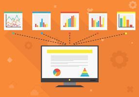 Illustrazione di sfondo visualizzazione dati