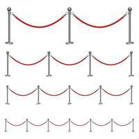 illustrazione di disegno di vettore di corda barriera isolato su priorità bassa bianca