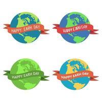 illustrazione di disegno vettoriale giornata della terra isolato su sfondo bianco