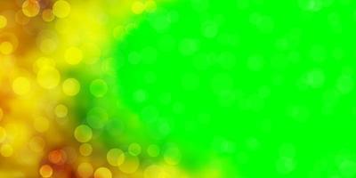trama vettoriale multicolore scuro con cerchi.