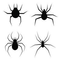 illustrazione di progettazione di vettore del ragno isolato su priorità bassa bianca