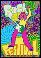 Poster di concerti psichedelici vettore