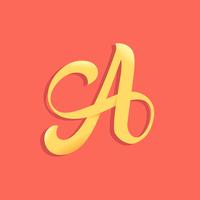 lettera una tipografia vettore