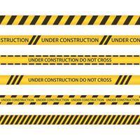 illustrazione di progettazione di vettore di zona in costruzione isolato su priorità bassa bianca