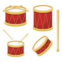 illustrazione di disegno vettoriale elegante tamburo isolato su sfondo bianco