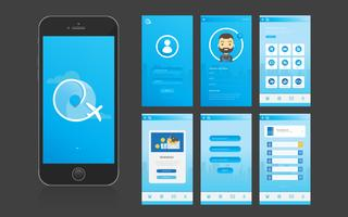 Interfaccia utente e interfaccia grafica utente per app mobili vettore