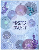 Vettori di poster di concerti hipster