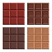 illustrazione di disegno di vettore della barra di cioccolato isolata su priorità bassa bianca
