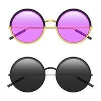 illustrazione di progettazione di vettore di occhiali da sole hipster isolato su priorità bassa bianca