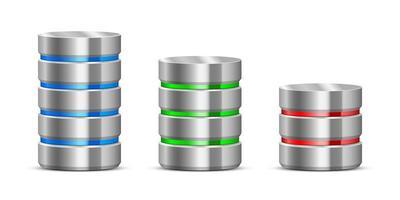 illustrazione di progettazione di vettore del server di dati isolato su priorità bassa bianca