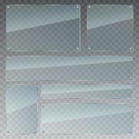 illustrazione di disegno vettoriale set di vetro trasparente