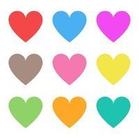 illustrazione di disegno vettoriale a forma di cuore isolato su priorità bassa bianca