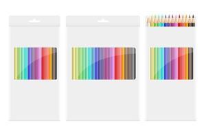 matite colorate disegno vettoriale illustraion isolato su sfondo bianco