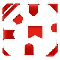 banner set disegno vettoriale illustrazione isolato su sfondo bianco
