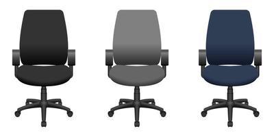 illustrazione di disegno vettoriale sedia da ufficio isolato su priorità bassa bianca