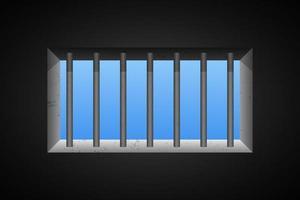 illustrazione di disegno vettoriale finestra della prigione
