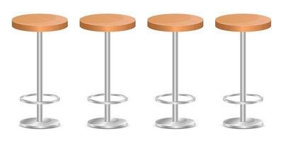 illustrazione di disegno vettoriale sedia da bar isolato su sfondo bianco