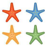 illustrazione di progettazione di vettore del pacchetto delle stelle marine isolata su fondo bianco