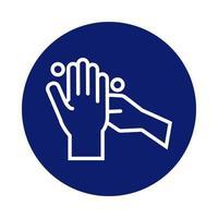 icona di stile blocco mani lavaggio