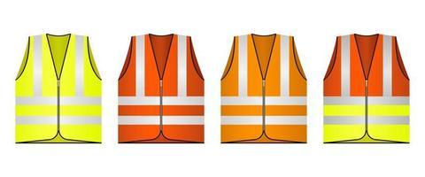 illustrazione di disegno vettoriale di giubbotto di sicurezza isolato su priorità bassa bianca