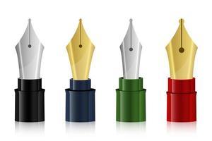 illustrazione di progettazione di vettore della punta della penna stilografica isolata su fondo bianco