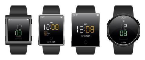 illustrazione di progettazione di vettore del dispositivo smartwatch isolato su priorità bassa bianca