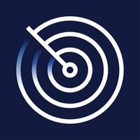 icona di rilevamento radar vettore