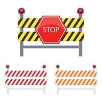 fermare l'illustrazione di progettazione di vettore della barriera isolata su fondo bianco