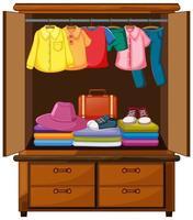 vestiti nell'armadio