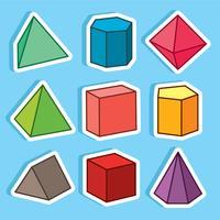Vettore di prisma geometrico simpatico cartone animato