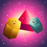 Vettore di prisma dei cartoni animati