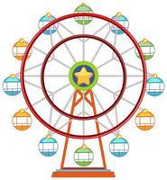 ruota panoramica Ferris colorato isolato su sfondo bianco vettore