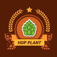 Logo della pianta di luppolo vettore