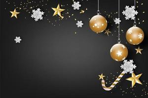 buon natale e felice anno nuovo celebrazione banner