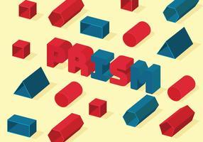 vettore del modello prisma isomerico