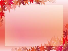 Cornice foglia d'acero su uno sfondo rosato.