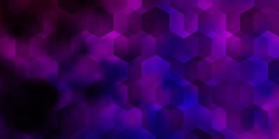 texture vettoriale viola chiaro con esagoni colorati.